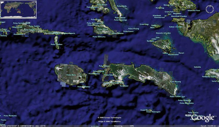 Moluccas (Maluku) Photo Satellite