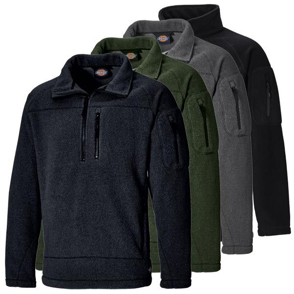Dickies Fleecepullover Brookton #genxtreme #dickies #fleecepullover #pullover #workwear #blue #black #green #gray #new