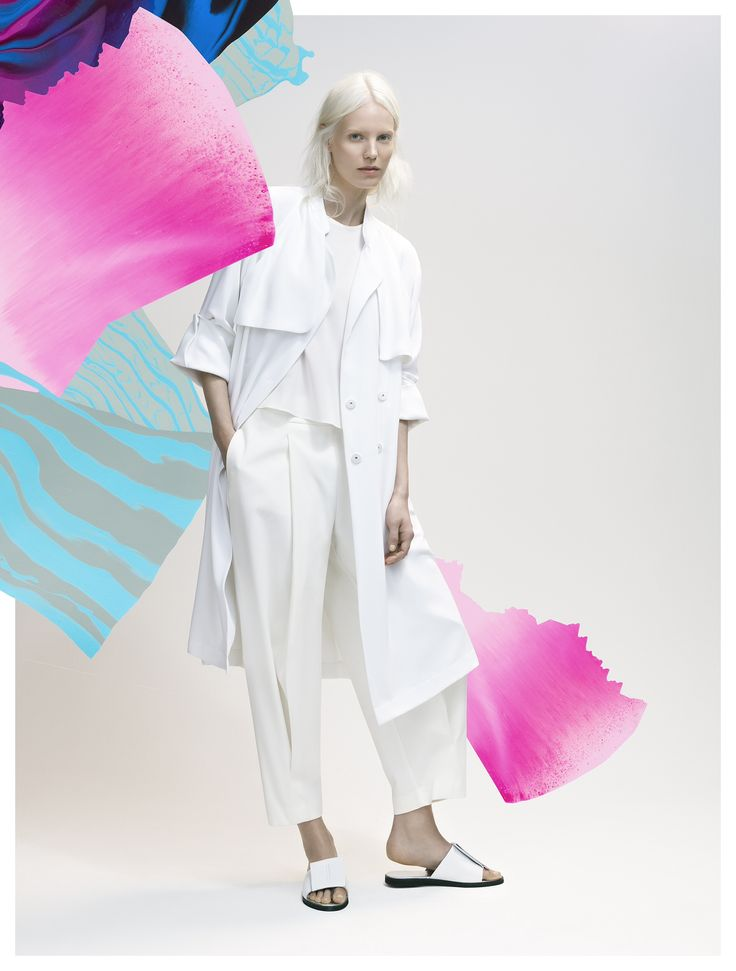 Soft white tailoring for Summer