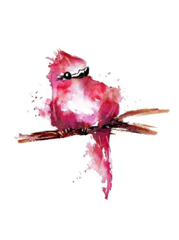 Whimsical Bird Art Nursery Art Print Kid Wall by NancyKnightArt