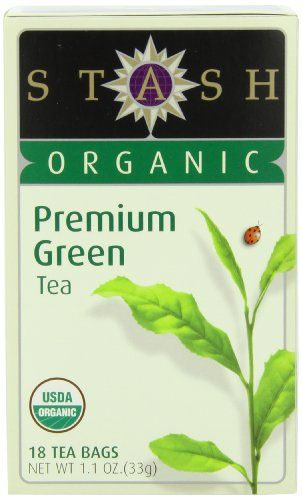 Stash Tea Company Organic Premium Green Tea, 18 Count Tea Bags in Foil (Pack of 6) - http://goodvibeorganics.com/stash-tea-company-organic-premium-green-tea-18-count-tea-bags-in-foil-pack-of-6/