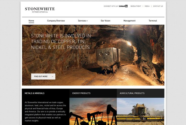 Stonewhite International - A international commodities trade company specialising in supplying trade, ship, source and storage solutions. http://stonewhite.com #branding #design #development