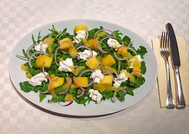 Mango-Rucola-Salat, ein sehr schönes Rezept aus der Kategorie Früchte. Bewertungen: 8. Durchschnitt: Ø 4,2.