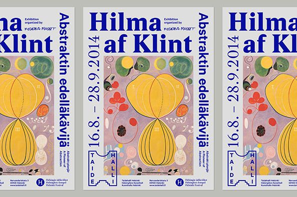 A funky fresh museum identity from Finnish studio Tsto / colorful illustration, abstract poster with border type of all sizes