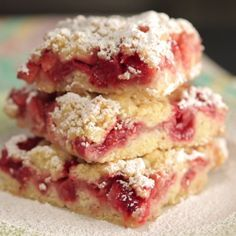Strawberry Crumb bars are the perfect sweet and fruity dessert.