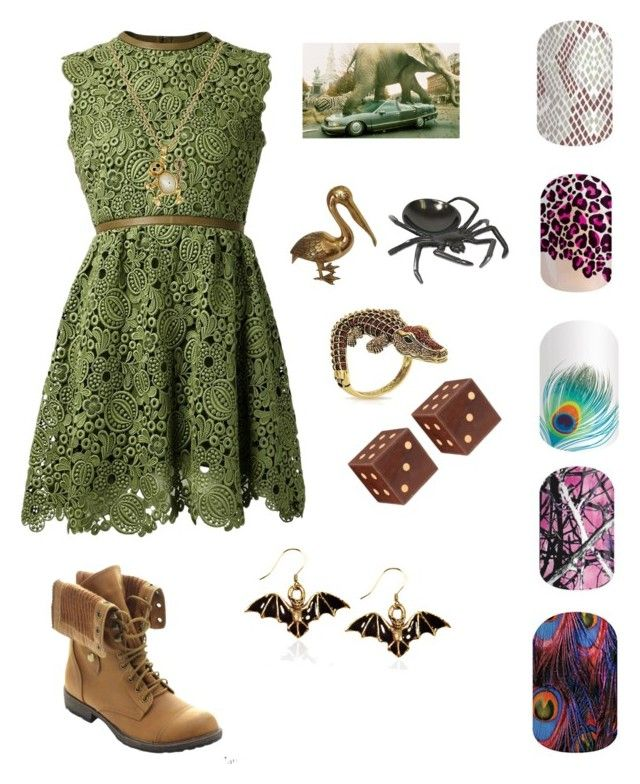 """""""Guess the Robin Williams movie-Jumanji"""" by katiepowell72013 on Polyvore featuring Valentino, Nature Breeze, Kate Spade, Bling Jewelry, Jamie Young, Whimsical Watches, women's clothing, women's fashion, women and female"""