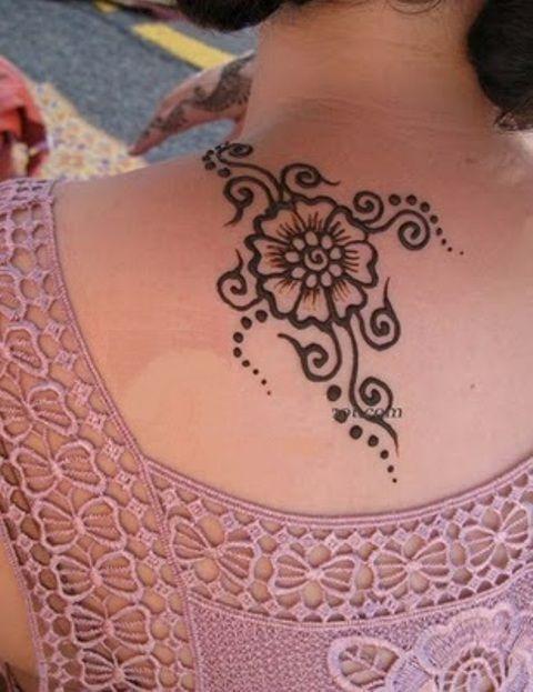 Henna Tattoo Neck Designs: Henna Mehndi Design On Neck