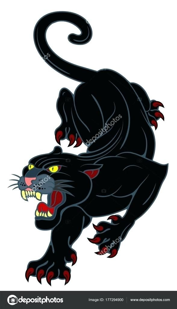 Drawing Of A Black Panther Image Of A Black Panther With A