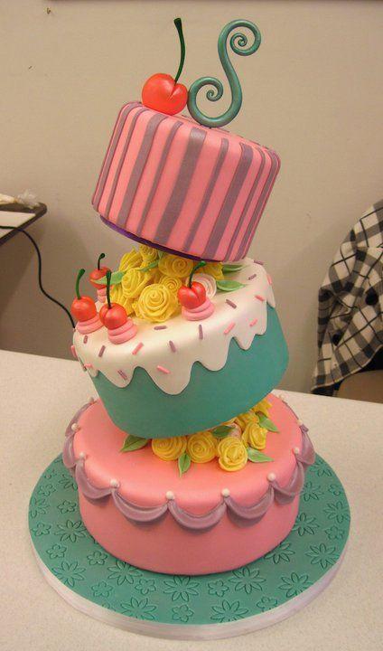 Awesome cake hmmmm....birthday cake for my girls