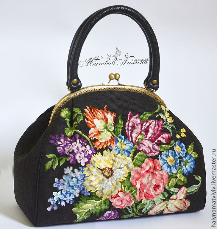 """Купить Сумочка-саквояж """"Викторианская"""" - черная сумка, женская сумка, женская сумочка, Сумка с вышивкой"""