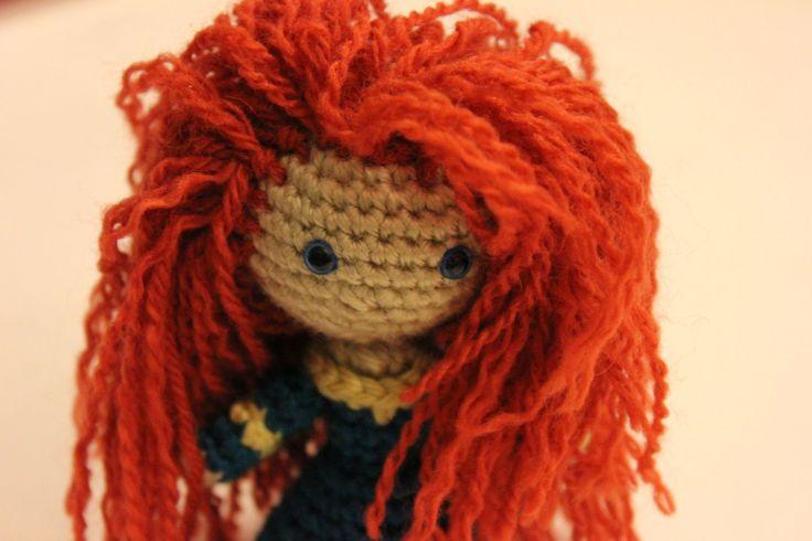 PATTERN Merida Warrior Princess Brave Crochet Doll by Sahrit, $4.95: Crochet Dolls, Patterns, Merida Warrior, Crochet Amigurumi, Merida Amigurumi, Diy, Princess Brave, Warrior Princess, Crafts