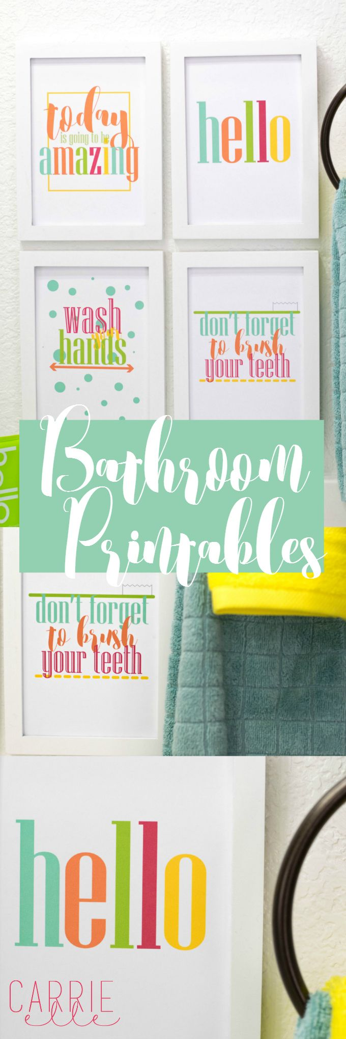 Bathroom wall art printables - Brighten Up Your Bathroom With These Cheerful And Happy Bathroom Printables These Are Great For