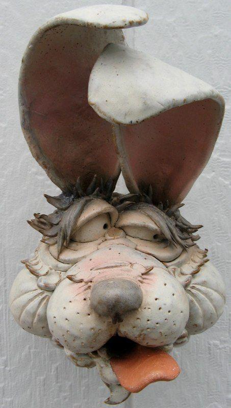 Llamas, & rabbits & horses - bird gargler (bird house) - Douglas Fey