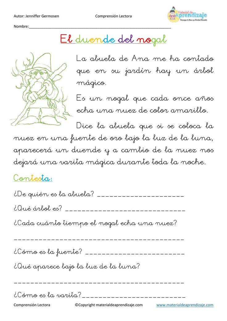 Fichas de comprensión lectora by Educación Primaria - issuu