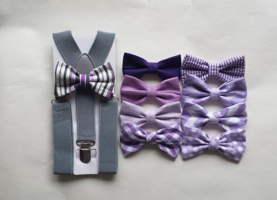lavender  lilac light purple boy bow tie by TheLittlestGentleman