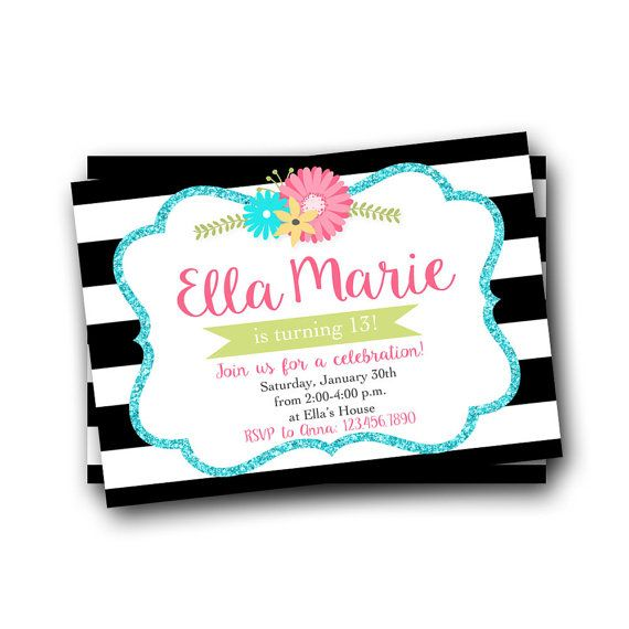 17 Best ideas about Teen Birthday Invitations – Teenage Girl Birthday Invitations Free Printable