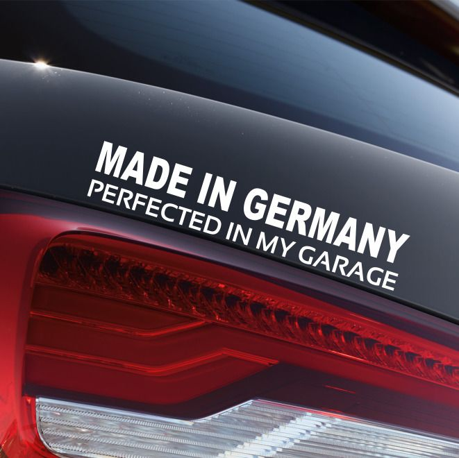 Made in germany vinyl bumper sticker decal american car sticker for benz bmw