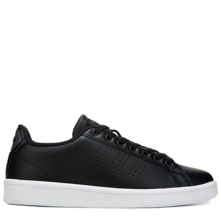 Adidas Men's Neo Cloudfoam Advantage Clean Sneakers (Black/White) - 11.5 M