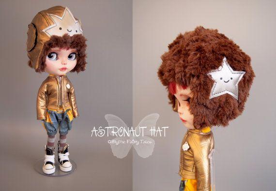 OOAK Blythe handmade Astronaut Helm by BlytheFairyTales on Etsy