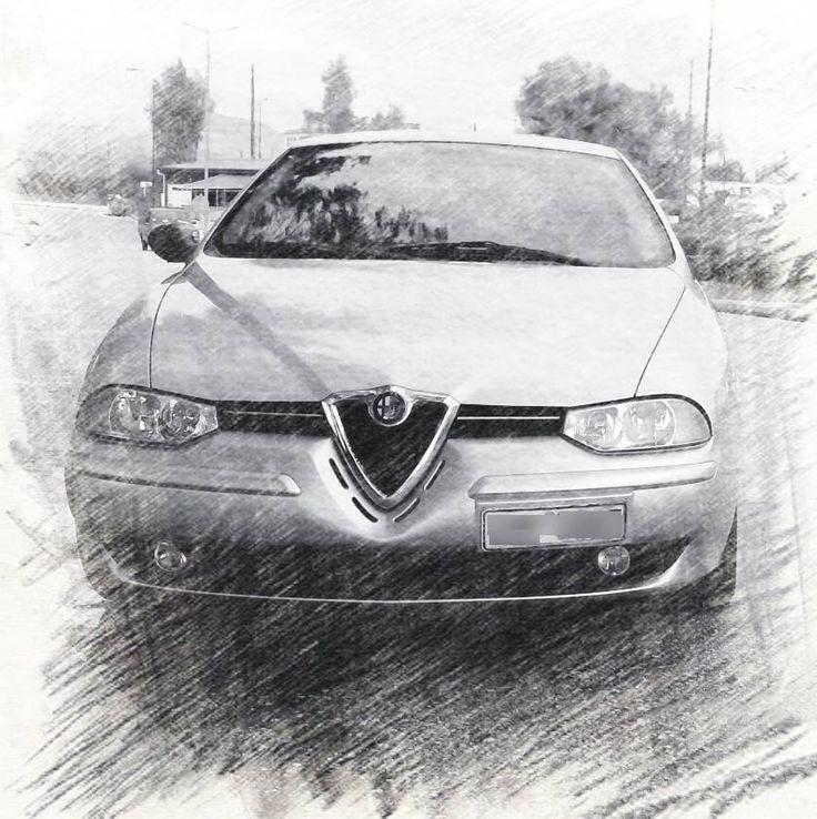 That's Dimitris' Alfa Romeo 156 sketched!