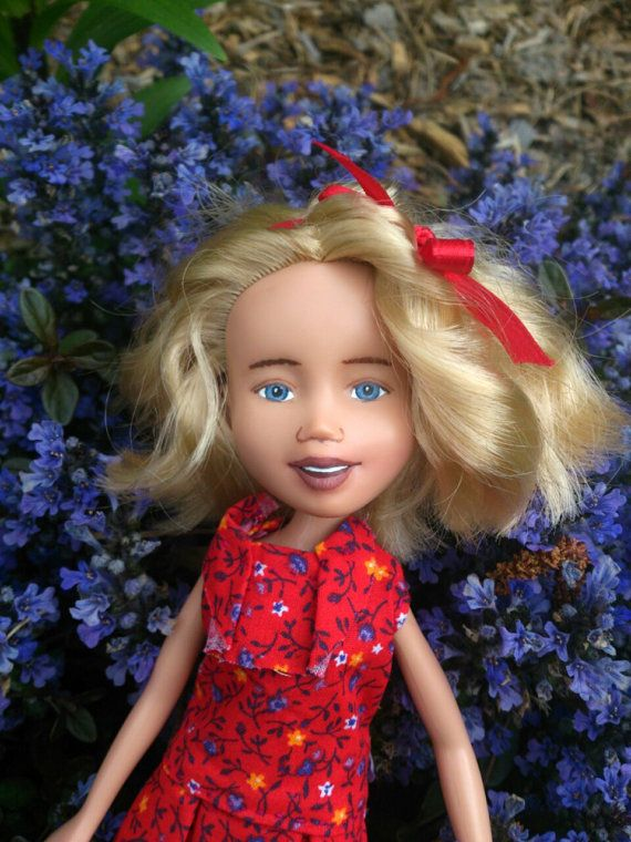 The Red Doll Drollerie Doll makeunder repaint rescue by Mirthitude