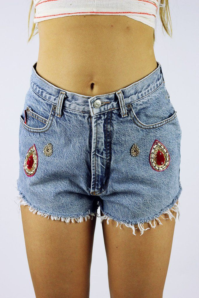 Custom Vintage Cut Off Nasty Bongo Denim Shorts S