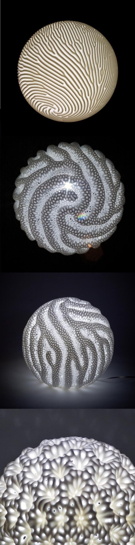 """Reaction"" LED Lamps -  | 3D Print : lighting . Beleuchtung . luminaires | Design:Nervous System |"