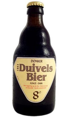 Duivels Bier Donker: Dark Brown Belgian Strong Ale.  Not sure how this one rates, but I love a Belgian Strong Ale.  May have to look it up.