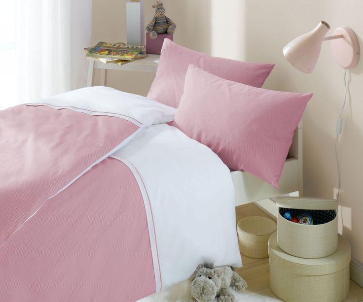 Lorena Karo Kinder-Bettwäsche Maxi Mako-Batist Rosa | Bettwäsche mit Stil – Ihr Shop für anspruchsvolles Schlafen