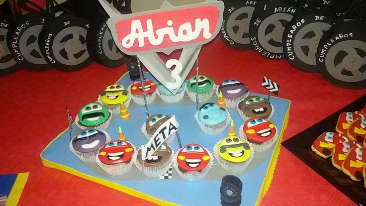 Cup cake de Cars