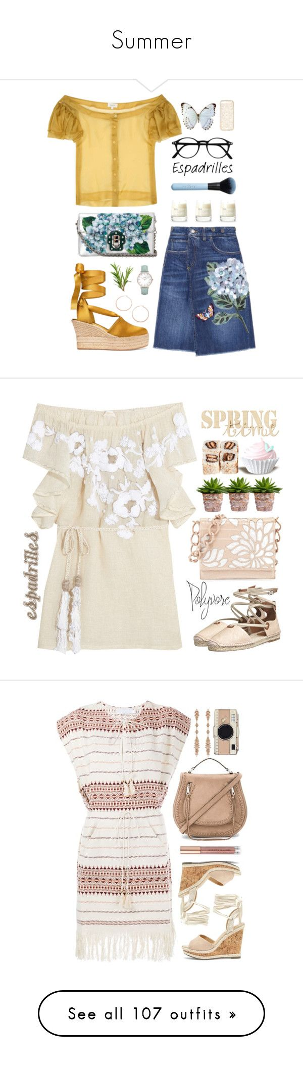 """Summer"" by evgeniavega ❤ liked on Polyvore featuring Dolce&Gabbana, Isa Arfen, Tory Burch, Forever 21, Le Labo, Jennifer Zeuner, CLUSE, espadrilles, Emamò and Nancy Gonzalez"