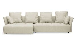 Baxton Studio Abbott Contemporary Beige Fabric Left Facing Sectional Sofa Chicago furniture, Chicago furniture stores, furniture in Chicago,Baxton Studio Abbott Contemporary Beige Fabric Left Facing Sectional Sofa,Living Room Furniturechicago