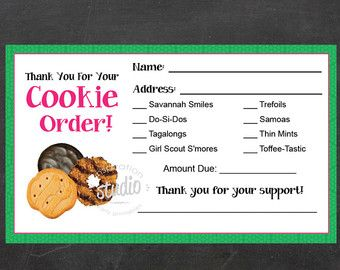 girl scout order form template - the 25 best ideas about girl scout cookies 2016 on