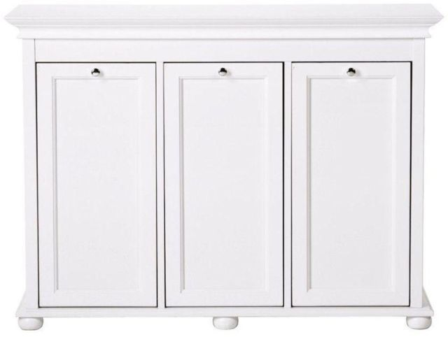 Laundry Hamper 3 Compartment Tilt Out Design Recessed Paneling