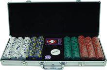 Trademark Games - 500-Piece 13-Gram Poker Chip Set - Red, 10-1500-5001S