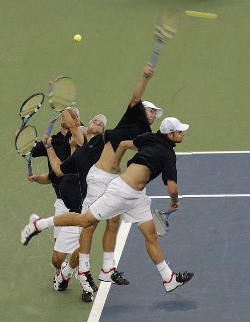 Andy Roddick and his BA serve