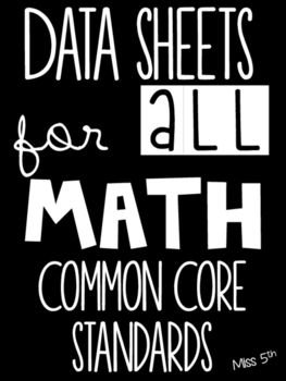 *A print-and-go document! NOT editable*Over 200  pages to keep track of your students' success with each math Common Core standard. This is a teacher binder, not a student binder.I use these pages in my own classroom, and they are a great way for me to keep track of which standards I teach, when I teach them, how my students are doing, and what I need to do in the future.