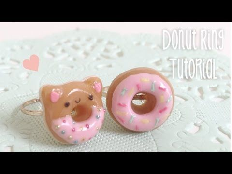 Kawaii Donut Ring Clay Tutorial