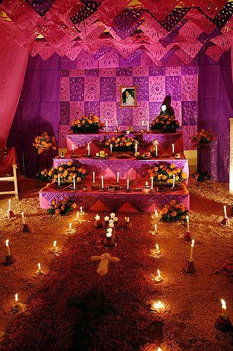 Altar with flower petal carpet | Tlaquepaque, Mexico | Lelonopo | Flickr