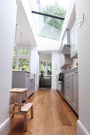 Kitchen - Extension - Ceiling - Windows - Wood flooring
