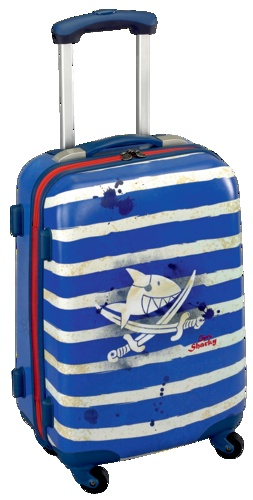 Capt'n Sharky 4 wheel trolley case    30566