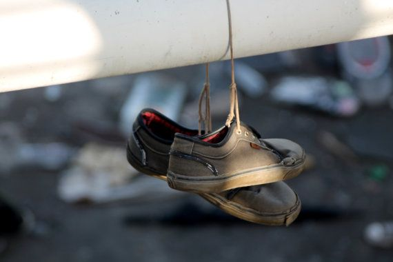 Abandoned Shoes by DWhitePhotography on Etsy