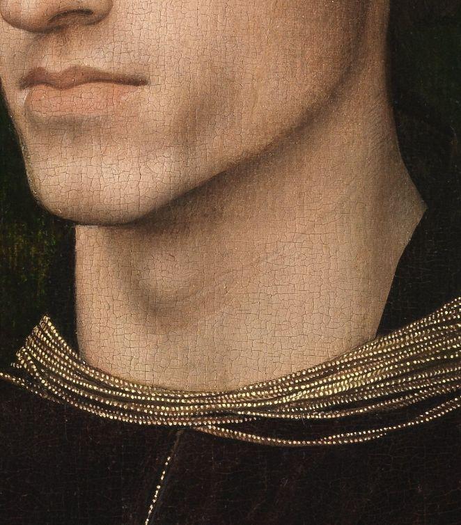 Roger van der Weyden, Portrait de Philippe de Croÿ (details) c.1460