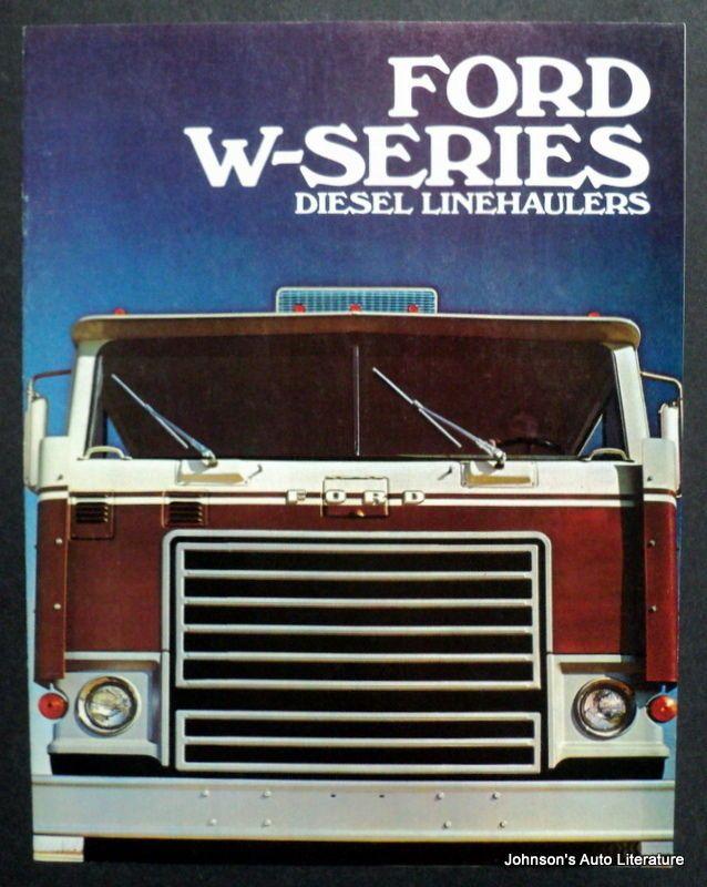 Ford 1971 W Series Diesel Trucks Sales Brochure Ford