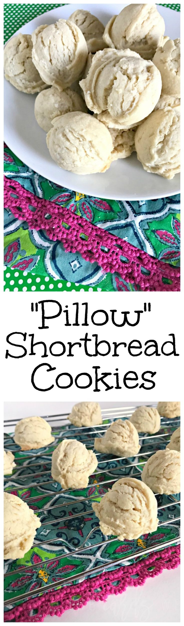 The BEST Shortbread Cookie recipe! AD https://thecardswedrew.com/holiday-pillow-shortbread-cookies/