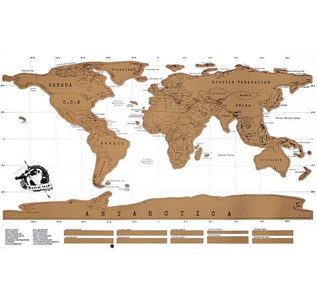Scratch Map Poster Weltkarte zum freirubbeln. Hier bei www.closeup.de