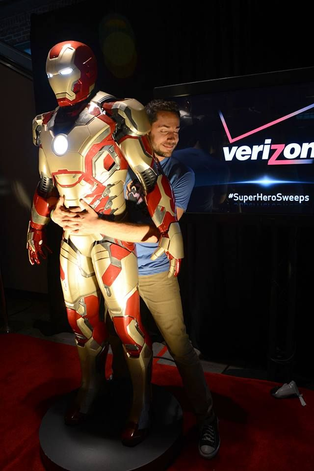 zachary levi & iron man. This picture could not be any more perfect.