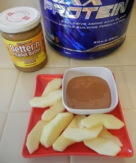 Shelly's Better'n Peanut Butter Protein Dip     1 Tablespoon Better'n Peanut Butter (any flavor: Original, Low Sodium, Banana, Chocolate)   2 Tablespoons Protein Powder (any flavor)   1 Tablespoon Milk (any type)     Mix till well combined. Serve with apple slices for dipping, spread on a banana, spread on a protein muffin, 5 minute cake, drizzle on protein ice cream.     Locally I can find Better'n Peanut Butter at Trader Joe's (best price), Whole Foods, and Target. Here's a store locator…