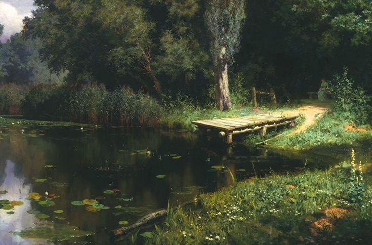 Заросший пруд. Поленов Василий. 1879 г.