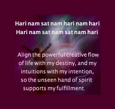 A Mantra for Divine Alignment..